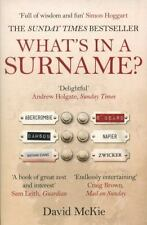 What's in a Surname?: A Journey from Abercrombie to Zwicker