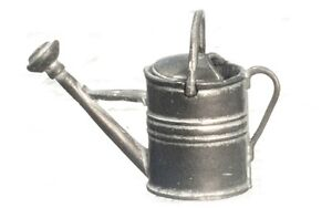 Dollhouse Miniature Weather Grey Metal Watering Can, T8104