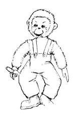 Old 1960s Stuffed Toy PATTERN Cuddles the Monkey 17 inch toy