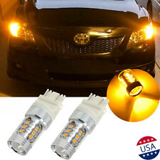 3057 3157 4157 16-SMD 3000k Amber Yellow LED Turn Signal Blinker Light Bulbs
