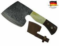 Damast Stahl Axt handgeschmiedet Beil Fleischerbeil Wikinger Fleisch-Messer