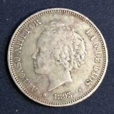 1893 alfonso XIII 5 pesetas (18-93) plata MBC+