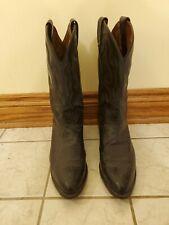 Tony Lama Ostrich Boots 11.5 Black