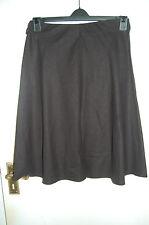 Black Linen Blend Full Skirt  Elasticated Waist Size 10 New With Defect