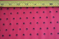By 1/2 Yd, Black on Red Quilting Cotton, Andover/Jo Morton/Variety/5096 R, B216