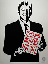 Shepard Fairey (Obey) Legislative Influence for Sale, Sign.,num.,dat.