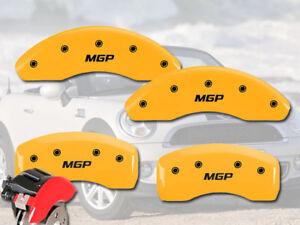 2014-2019 Mini Cooper Front +Rear Yellow MGP Brake Caliper Cover F55 F56 HB Conv