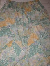 """VINTAGE PAIR OF 64""""WX53""""L"""" POLYESTER+COTTON LINED FLORAL CURTAINS"""