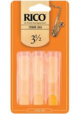 1 Pack of 3 Rico Reeds (Orange Box Style) for Tenor Saxophone 3-1/2(3.5) RKA0335