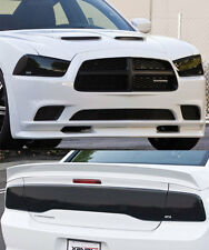 Fits 11-14 Charger GTS Acrylic Smoke Headlight Taillight Center Covers 5pc Set