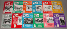 "1983 Lot of 12 Horse Racing "" Turf Magazine "" Issues"
