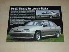 40766) Opel Omega A Lexmaul Prospekt 198?