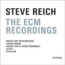 STEVE REICH - THE ECM RECORDINGS  REICH,STEVE - BOX-SET 3 CD NEU