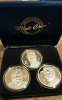 McGwire Maris Sosa Highland Mint 3 coin Matched Set .999 Silver w/COA 5/1000
