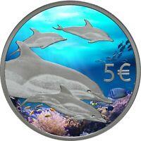 5 Euro Gedenkmünze Portugal 2020 Delfine / mit Farbe / Farbmünze / Deutschland