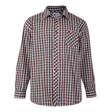 Camicie casual e maglie da uomo rossi in cotone con colletto regolare