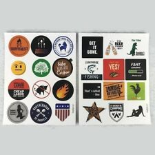 New 24 Funny Hard Hat & Toolbox Stickers Value Pack Round Decals Misc. Theme