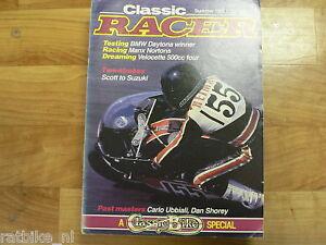 CLASSIC RACER 1985 SUMMER ISSUE 10,BMW DAYTONA,YAMAHA V4,UBBIALI,HD