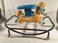 Vintage 1970 Wilkes-Barre Plastic Children's Kids Toddler Spring Rocking Horse