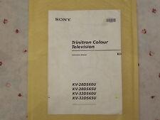 Sony Trinitron Colour Television Instructions KV 28DS6OU+65U, KV32DS6OU+65U