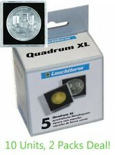 10 Lighthouse Quadrum 50mm Square XL Large Coin Medals Capsules 67x67 Holders US