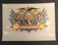 LOS INMORTALES 6x8 inner YBOR Cigar label  Lincoln , Washington Grant FREE SHIP