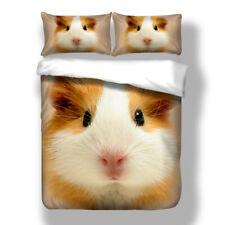 Guinea Pig Duvet Quilt Cover Pets 3D Bedding Set Pillowcases Single Double King