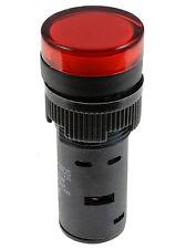 Red Pilot Light LED 16mm Indicator Warning Lamp Panel Mounting 220V