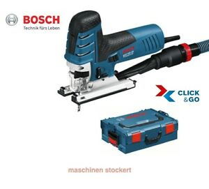 Bosch Professional GST 150 CE Stichsäge Absaug-Set, L-Boxx, Sägeblatt 0601512003