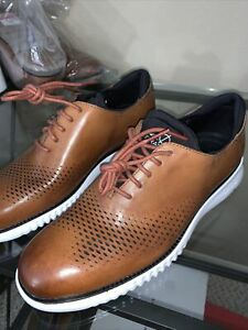 Cole Hasn 2.0 Lined Laser Wingtip British Tan Leather size 8
