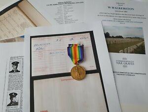 WW1 Victory Medal to Sapper Halkeston, R.E, DOW, Dundee man