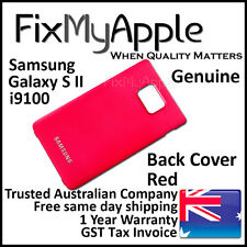 Samsung Galaxy S II S2 i9100 Red Back Rear Cover Battery Housing Door Case New