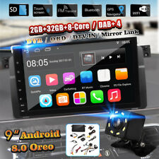 9''Android 8.0 Car Stereo GPS Sat Nav 32GB DAB 4G OBD WiFi Camera For BMW E46 M3