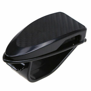 Universal Black Car Sun Visor Glasses Sunglasses Card Ticket Holder Clip Plastic