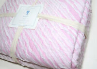 Pottery Barn Kids Multi Colors Pink White Ribbon Bailey Cotton Twin Quilt New