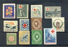 NORWAY ETC 12 ST LOCAL / BY POST / BACK OF BOOK /RED CROSS --F/VF