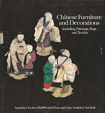 SOTHEBY'S CHINESE FURNITURE TEXTILES PAINTINGS CERAMICS Auction Catalog 1980