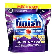 FINISH Dish Washing Powerball Discs QUANTUM Max Lemon Dishwasher - 54 Tablets