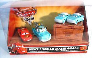 Disney Cars Rescue Squad Mater 4-Pack Conv19 Dr. Mater, Nurses, burnt McQueen