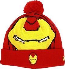 Ironman Marvel Comics Woven Character Biggie New Era Knit Hat Cap Beanie OSFA