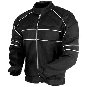 Men's Cordura Textile Armour Black WaterProof Motorbike Motorcycle Jacket Top