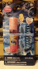 3pc DISNEY PRINCESS 2 Blue Jaw Clips+Roll-On Lipgloss BUBBLE GUM Cinderella