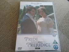 pride and prejudice dvd bbc episodes 1-3 new and sealed
