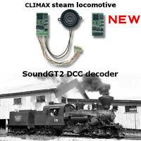 Climax steam locomotive SoundGT2.1 DCC decoder for Bachmann, brass