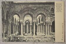 """CPA """" Monreale - Convento dei Benedettini Loggetta e Fontana del Chiostro"""