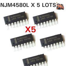 5 x NJM4580L SIP-8 NJR Dual Operational Amplifier IC Chip JRC ORIGINAL