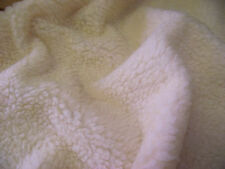 Faux Fur SHERPA FLEECE Sheepskin Fabric Material - CREAM