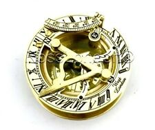 Brass Sundial Compass - Pocket Sundial -Brass polished West London