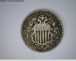 1867 Shield Nickel 5c ( 4-306 4m/1 )