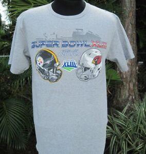 Super Bowl XLIII Steelers vs Arizona Cardinals Gray Men's T-Shirt Medium